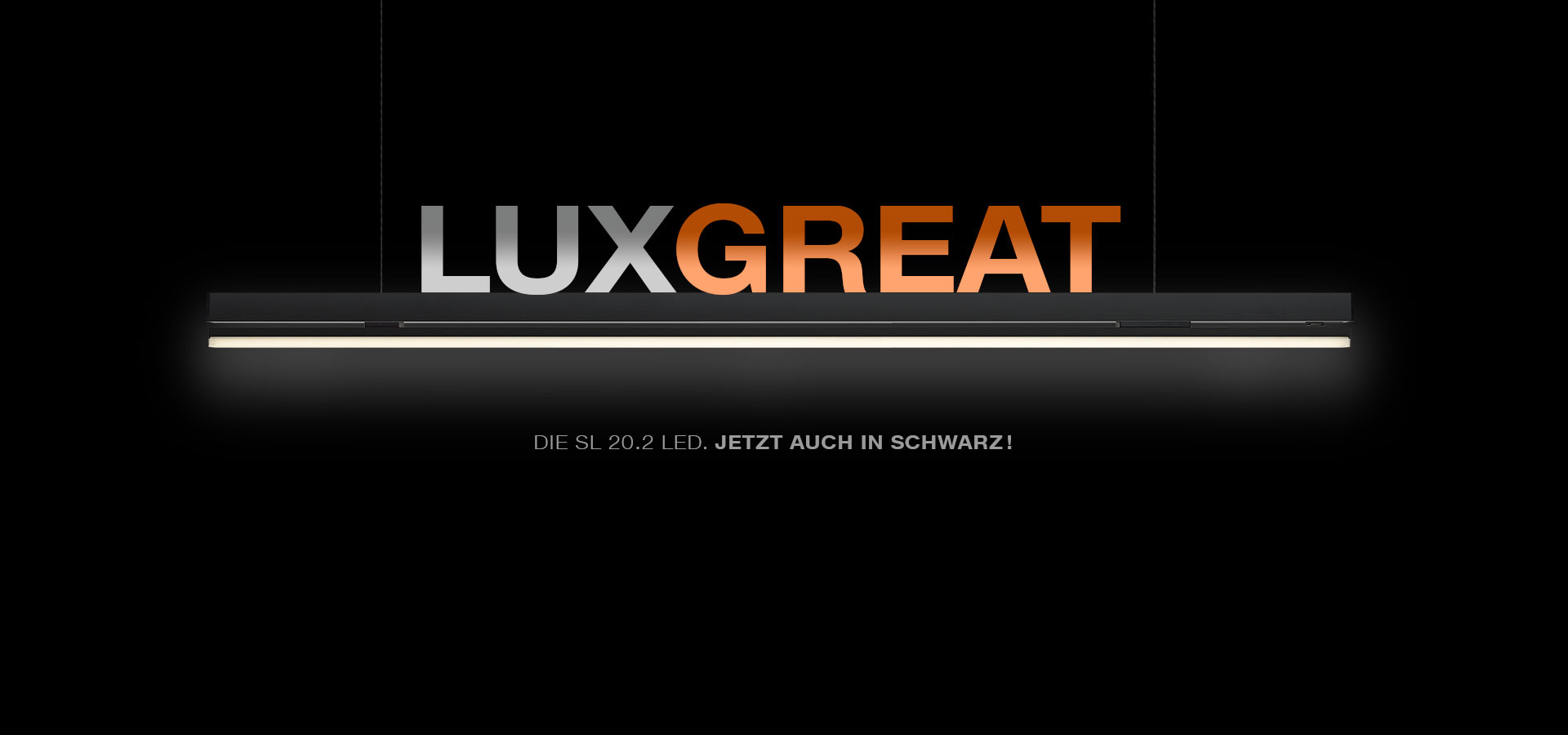 Luxsystem LED Leuchte SL 20.2 Eloxalfarbe Schwarz Header Lux Great